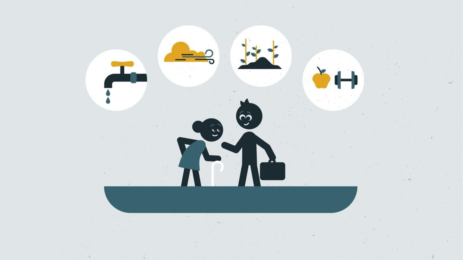 Ein Erklärvideo für den Einsatz der DEZA im Bereich Gesundheit
