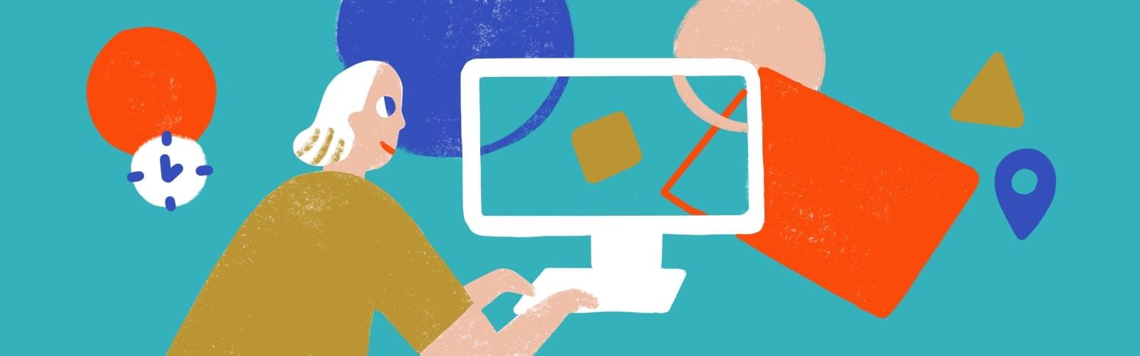 "Illustration für ""Digital Learning-Die Zukunft des Lernens"""