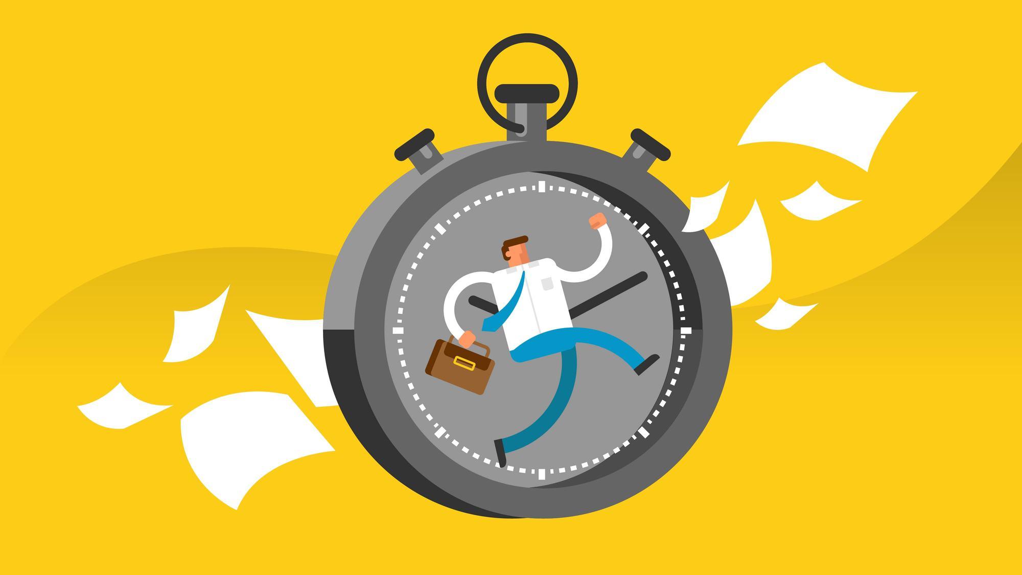 Illustration flexibles Zeitmanagement