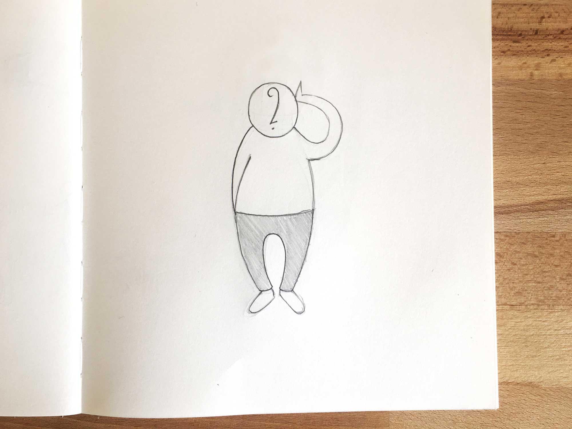 """Illustration """"scribbeln lernen"""""""