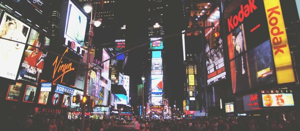 "Foto Timesquare NYC ""Storytelling Marketing"""