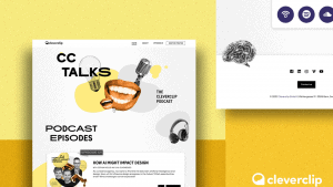 An interactive landing page for our new podcast format